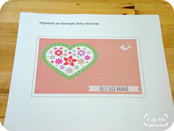 Imprimible tarjeta día de la madre, folio A4