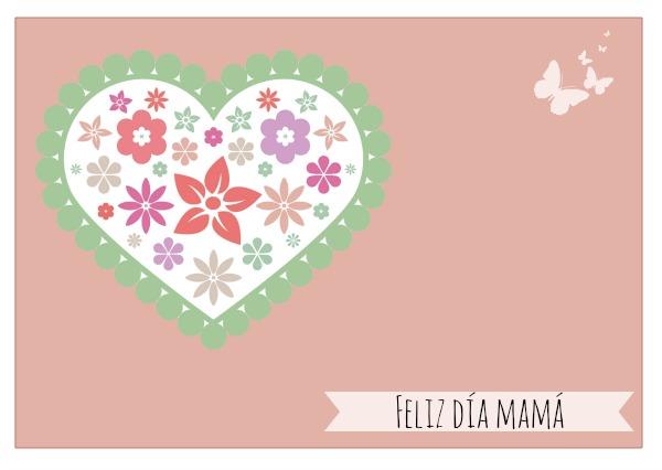 Día de la madre: tarjeta felicitación