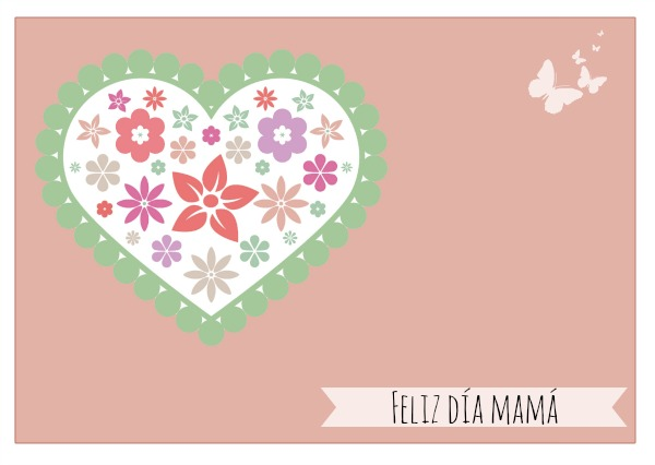 Imprimible tarjeta Día de la madre