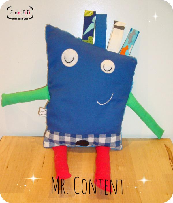 Muñeco de tela: Mr. Content!
