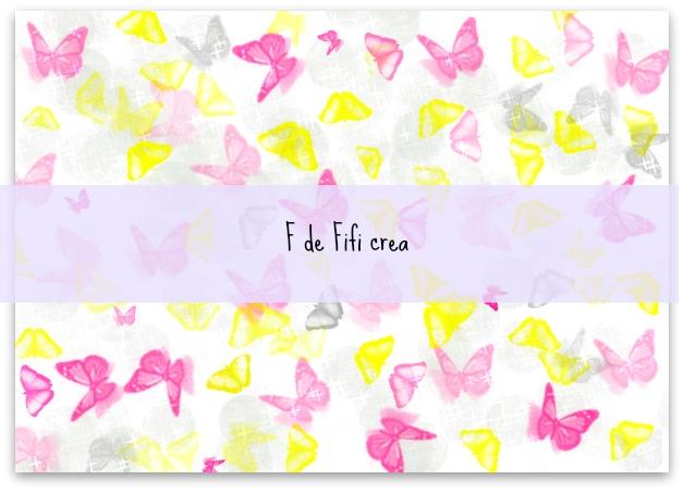 Papel mariposas - Imprimible