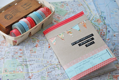 Cuaderno con washi tapes