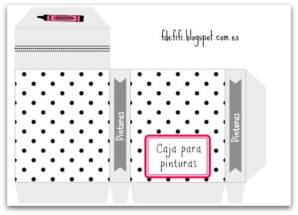 Caja para guardar las pinturas – Imprimible para montar