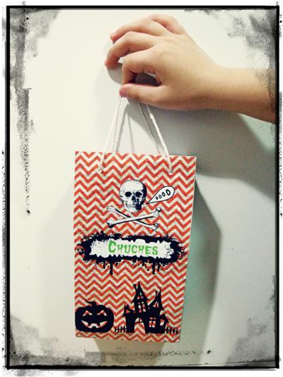 Bolsa chuches para Halloween – Imprimible gratis.