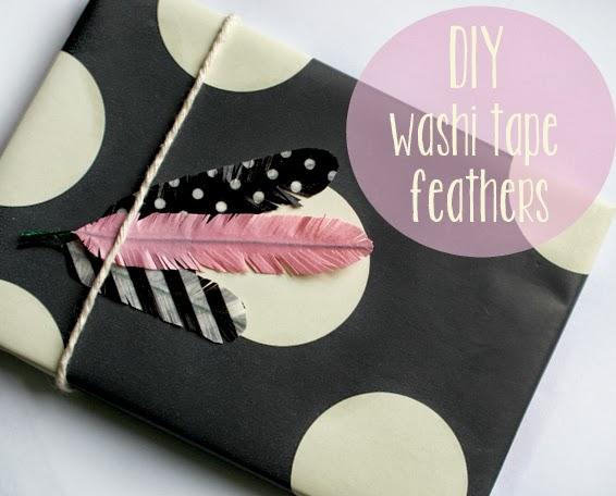 DIY: Como hacer plumas con washi tape