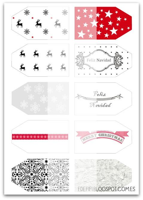 Etiquetas gratis para regalos de navidad