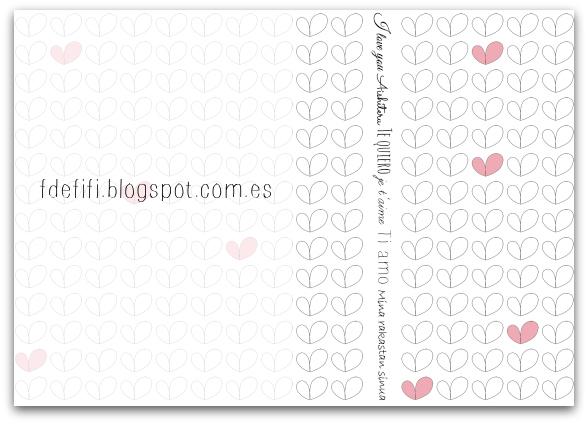 Papel imprimible para el día de San Valentin