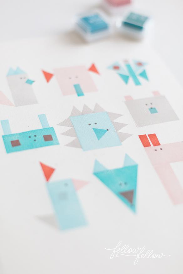 Manualidad molona: dibujos geométricos con sellos
