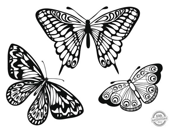 Dibujos De Mariposas Descargables Para Colorear
