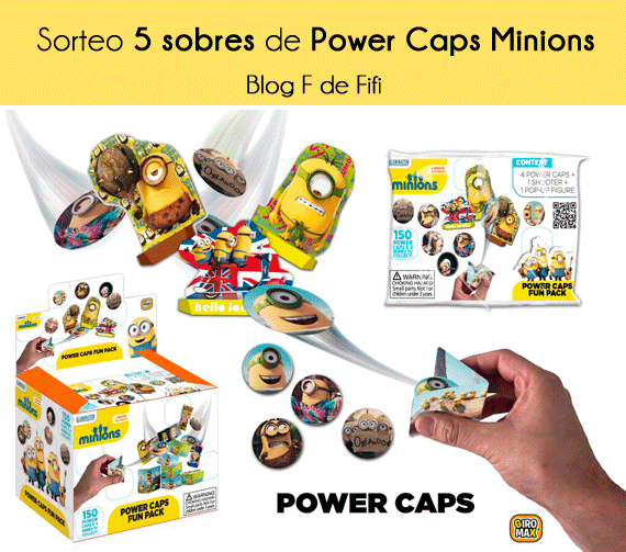 #sorteo Power Caps de los Minions