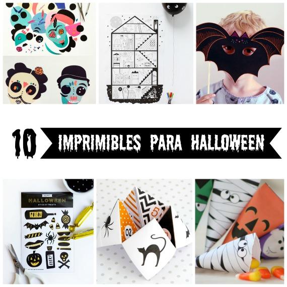 10 imprimibles gratuitos para celebrar Halloween