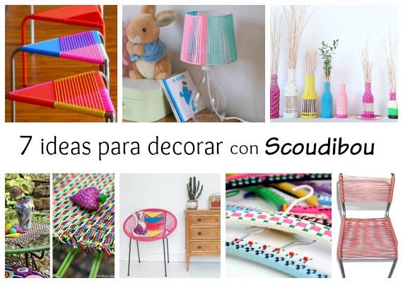 7 ideas usando hilo scoubidou para decorar muebles y objetos