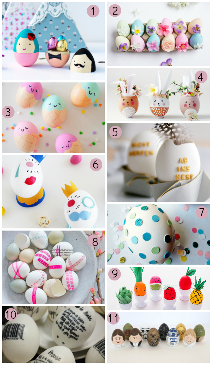11 ideas para decorar huevos de Pascua
