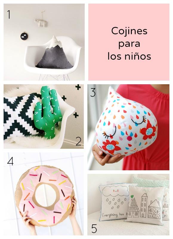 5 cojines irresistibles para la habitación de los niños