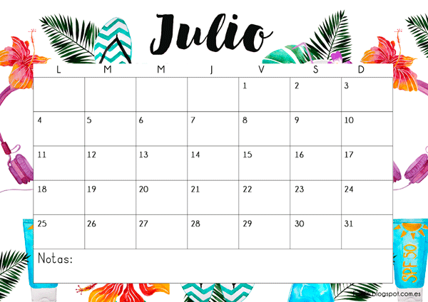 calendario-gratuito-julio-imprimible-descargable-2016
