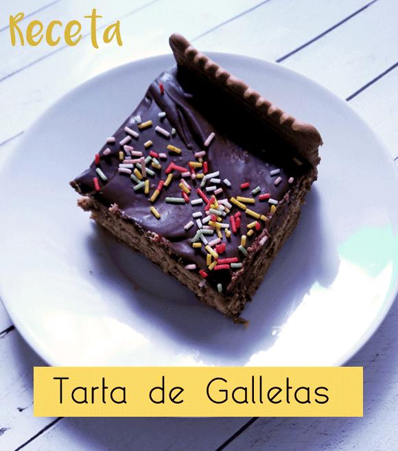 Receta fácil de tarta de galletas con chocolate