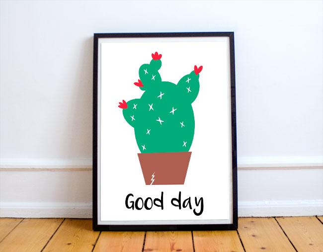 Cactus fever: lámima y papel imprimible gratis