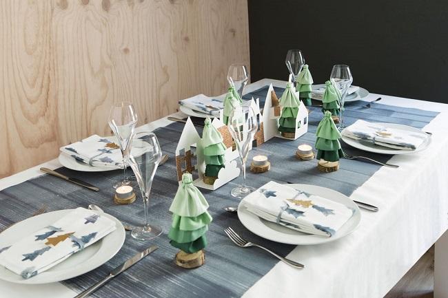 Una mesa de Navidad super fácil para realizar tu misma