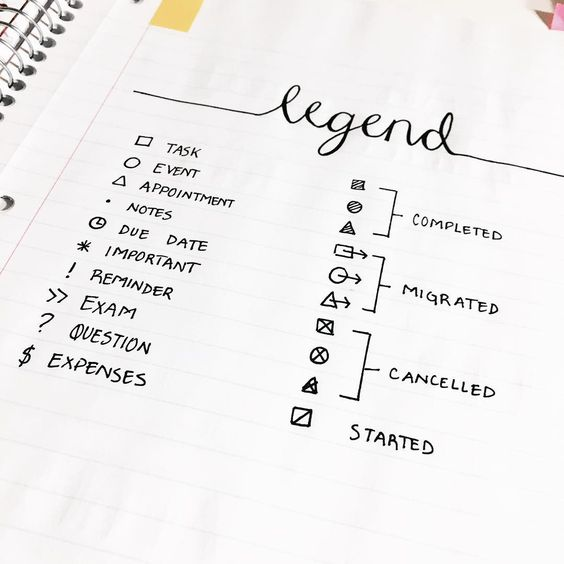 keys-legend-bullet-journal