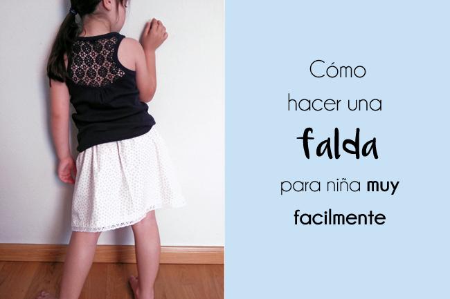Tutorial fácil paso a paso para hacer una falda de niña