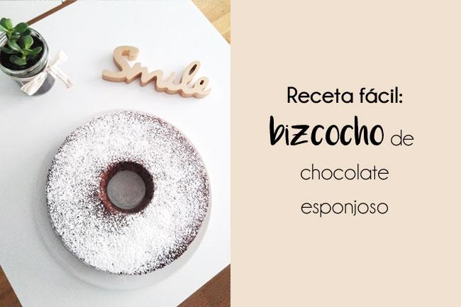 Receta fácil para un bizcocho de chocolate esponjoso