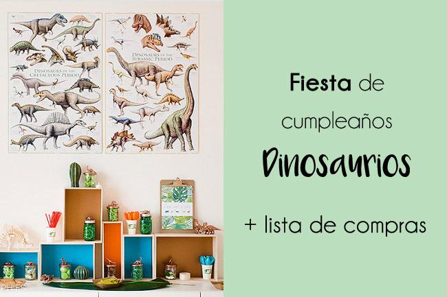 Fiestas: un cumpleaños alrededor de los dinosaurios + lista de la compra
