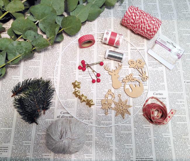 materiales-corona-navidad-hecha-mano