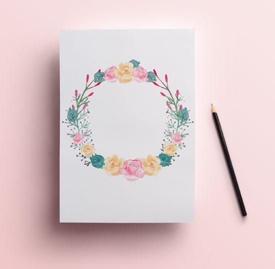 Corona flores gratuita para imprimir