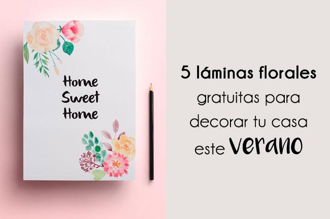 Láminas florales gratuitas para decorar tu casa este verano