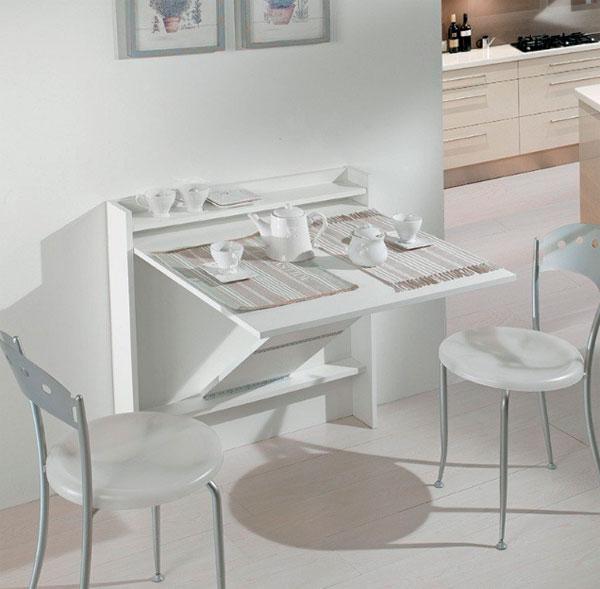 Mesa extraíble abatible para cocina
