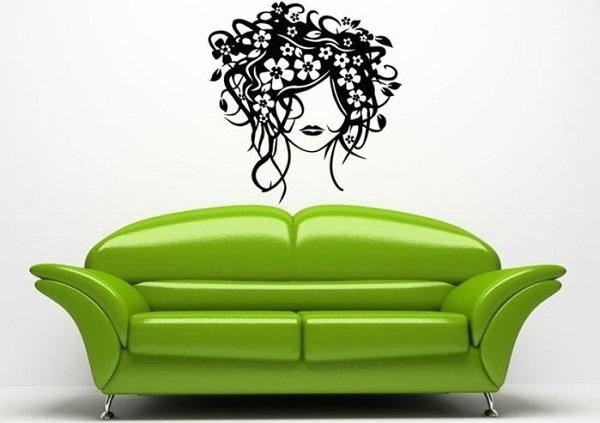 Vinilo mujer peluquería