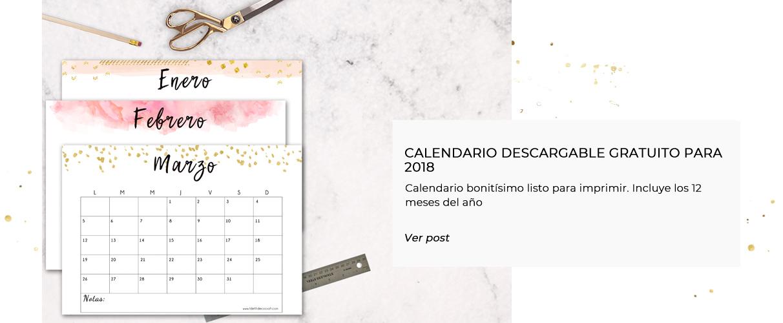 Portada calendario 2018 imprimible gratuito